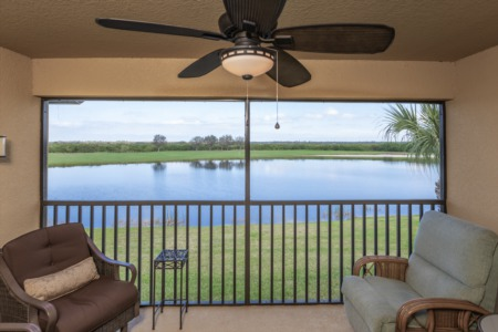 The 'Trifecta View' Veranda...Golf, Water, and Preserves: Condos for Sale in River Strand