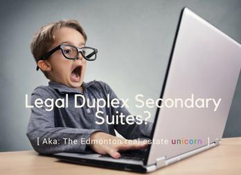 Do legal secondary suites in half duplexes exist in Edmonton?