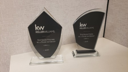 Top Agent at Keller Williams Realty in 2018