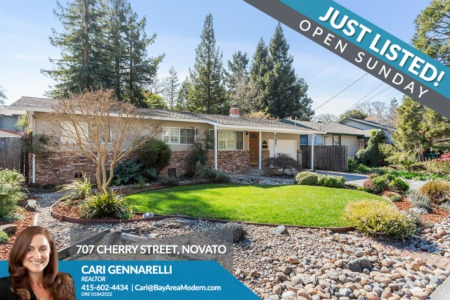 707 Cherry Street Novato CA 94945 - Just Listed!