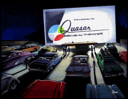 Coming Soon to a Silver-Screen Inspired Lot Near You: Quasar Drive-In Theater