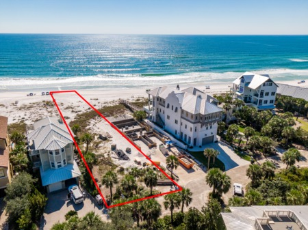 This Santa Rosa Beach Homesite features 47' of Gulf Frontage!