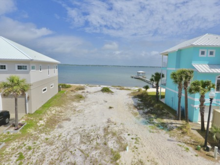 NEW!  Soundfront Homesite with 82' Waterfront in a Gated Community on Navarre Beach!