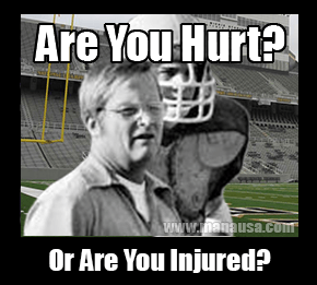 Are You Hurt, Or Are You Injured?