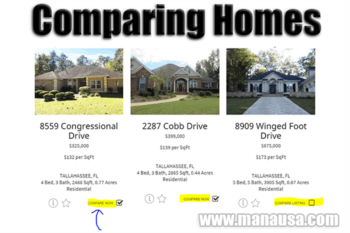 How To Do A Side By Side Home Comparison In Tallahassee
