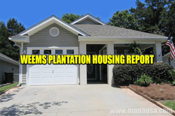 Weems Plantation Real Estate Sales Report April 2016