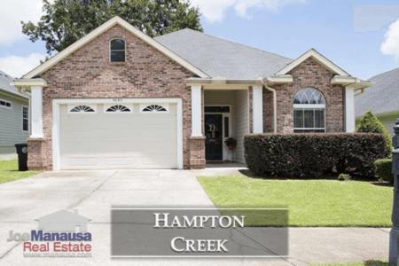 Hampton Creek Listings And Sales Report August 2018