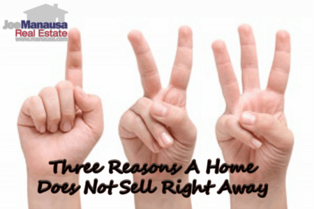 Three Reasons A Home Does Not Sell Right Away