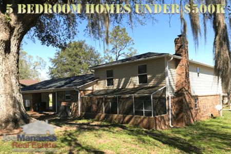 5 BR Homes Under $500K