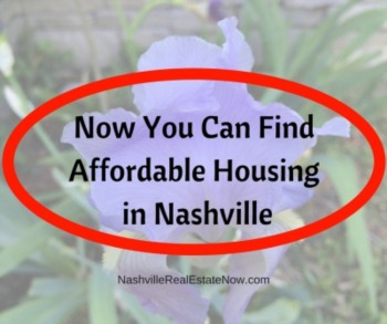 Now you can find affordable housing in Nashville