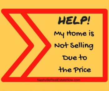 Help!  My home is not selling due to the price