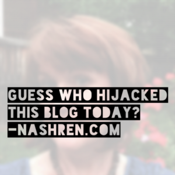 Guess who hijacked this blog this morning?