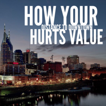 How your distance to downtown Nashville hurts value