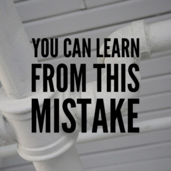You can learn from this mistake