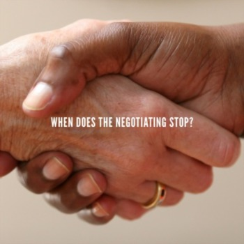 For seller: when does the negotiating stop?