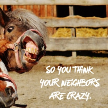 So you think your neighbors are crazy