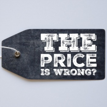 The price is wrong?