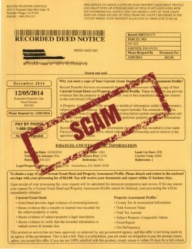Here's how the deed scam works