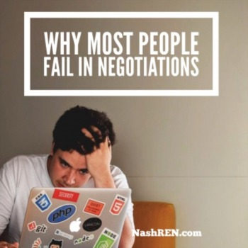 Why most people fail in negotiations