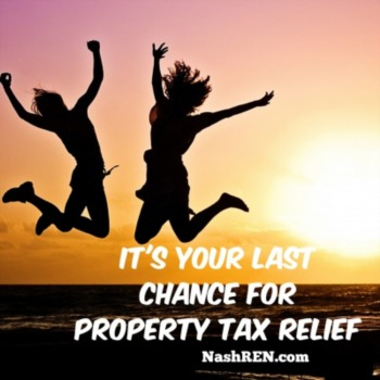 Last chance for property tax relief