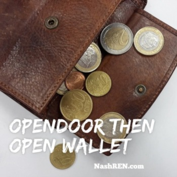 Opendoor then open wallet