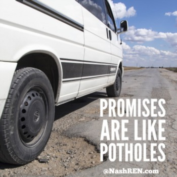 Promises are like potholes