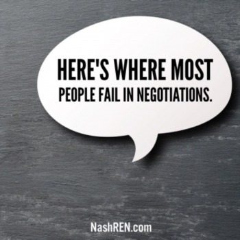 Here's where most people fail in negotiations