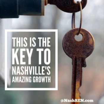 This is key to Nashville's amazing growth