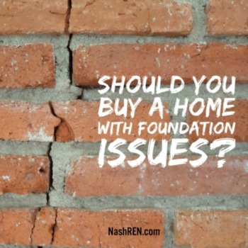 Should you buy if there are foundation issues?