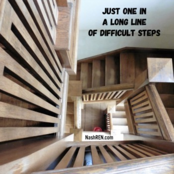 Just one in a long line of difficult steps