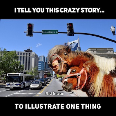 I Tell You This Crazy Story To Illustrate One Thing