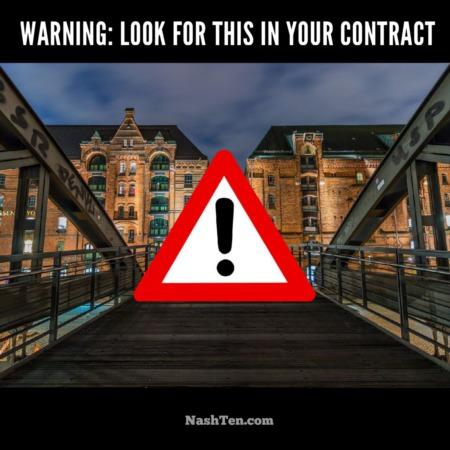 Warning: Look for this in your contract