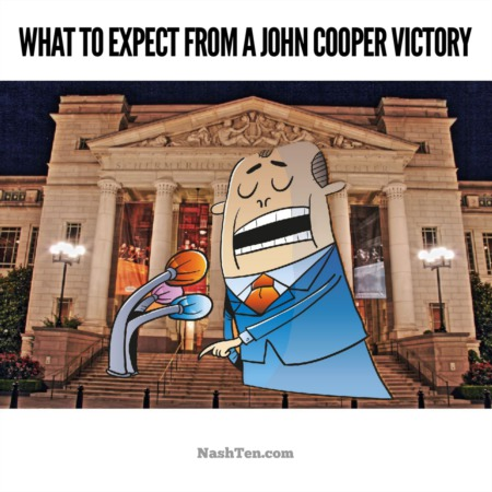 This is what to expect from a John Cooper victory