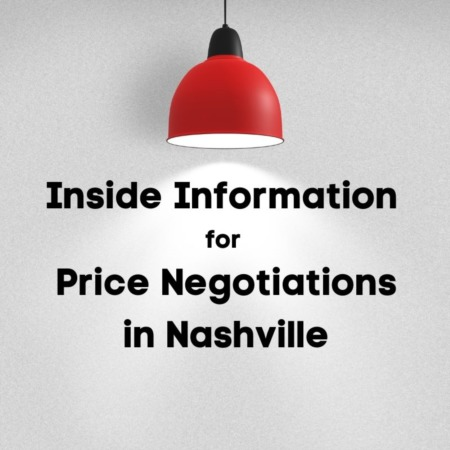Here's your Inside-Information for Price Negotiations in Nashville.