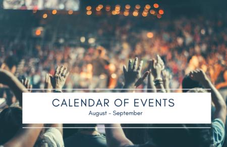 Calendar of Events | August - September 2019