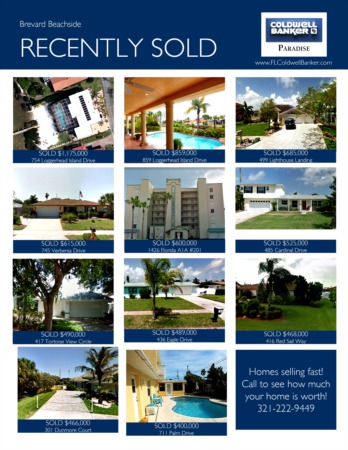 2017 Brevard Beachside Year End Real Estate Market Report