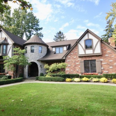 An Impeccable Tudor Mansion in Birmingham, Michigan