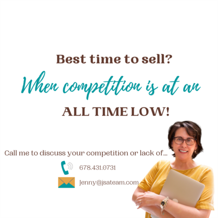 Best time to sell? When competition is at an all time LOW!