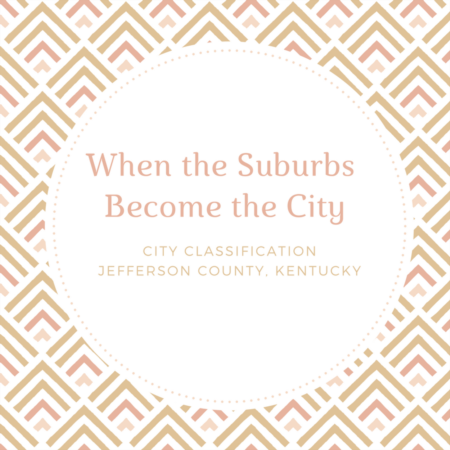 City Classifications in Jefferson County KY