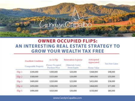 Owner Occupied Flips: An Interesting Real Estate Strategy to Grow Your Wealth Tax Free