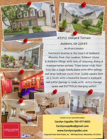 43712 Vineyard Terrace in Ashburn, VA for Sale