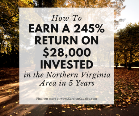 How To Earn a 245% Return on $28,000 Invested in the Northern Virginia Area in 5 Years