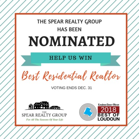 2018 Best of Loudoun | Vote The Spear Realty Group for the Best Residential Realtor
