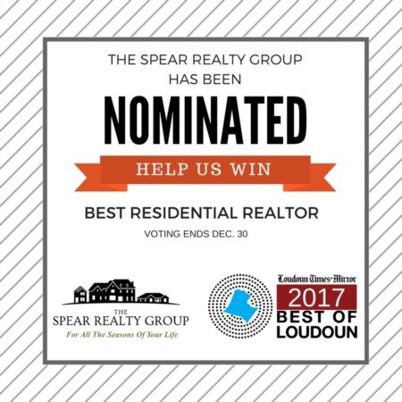 2017 Best of Loudoun | Vote The Spear Realty Group as Best Residential Realtor