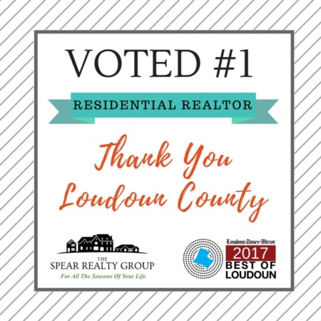2017 Best of Loudoun | The Spear Realty Group Voted #1 as Best Residential Realtor