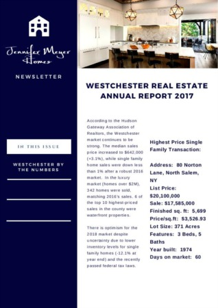 2017 Westchester Real Estate Market Report