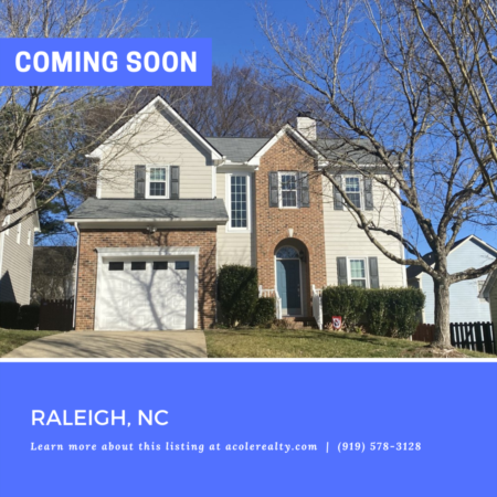 *COMING SOON* Prime Raleigh location close to 540 with tons of upgrades!