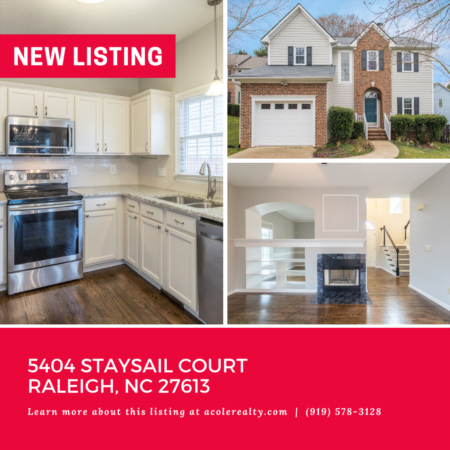 *NEW LISTING* Prime Raleigh location close to 540 with tons of upgrades!
