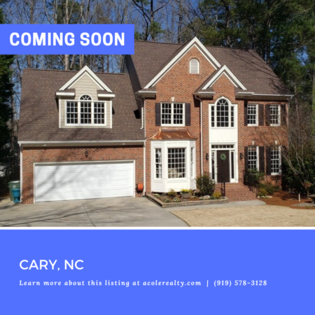 *COMING SOON* Amazing opportunity in a great Cary location!