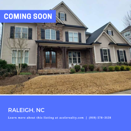 *COMING SOON* Beautiful home in the The Hamptons at Umstead!